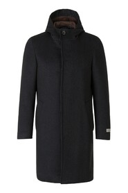 Cashmere and silk coat