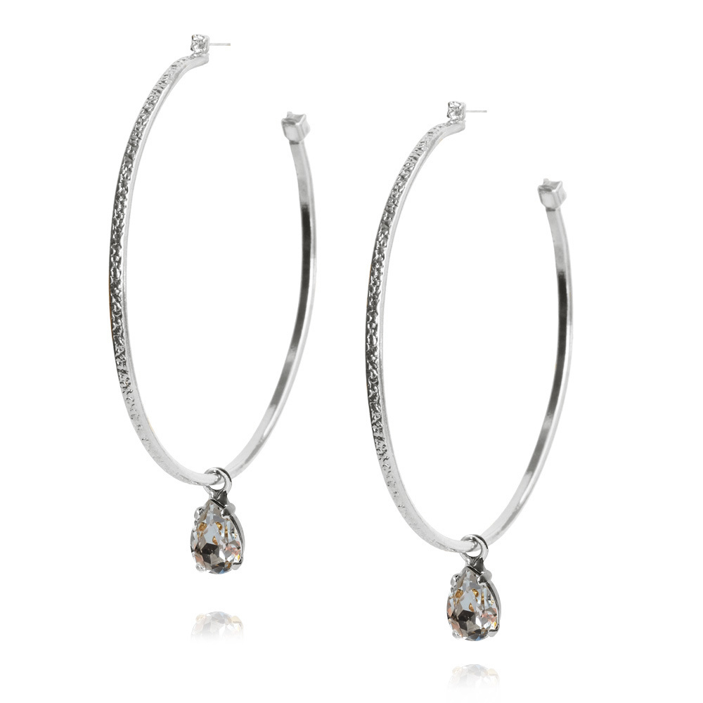 Loop earrings crystal silver - Caroline svedbom