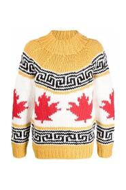 Maple Leaf Knit Sweater