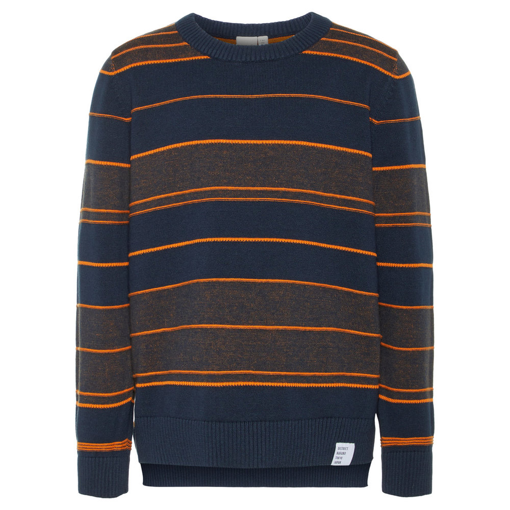Pullover striped fine knitted