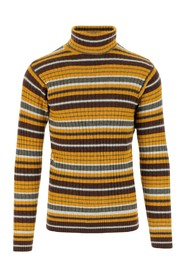 Turtleneck sweater in wool, cashmere and fine yack yarn blend