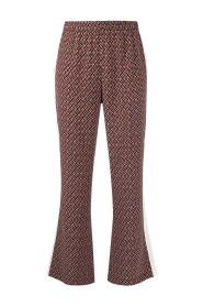 Geometric-pattern cropped track pants
