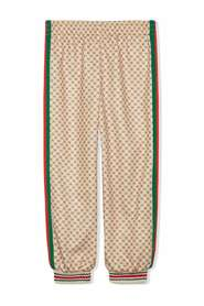 Technical jersey track trousers