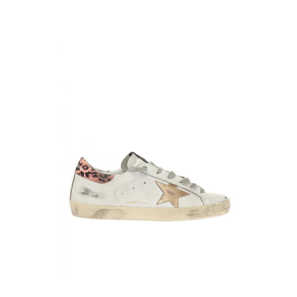 BLACK Superstar distressed sneakers  Golden Goose  Sneakers - Sko Til Dame