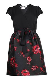 Silk Top Dress With Roses Skirt