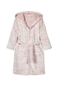 Bathrobe soft leopard patterned
