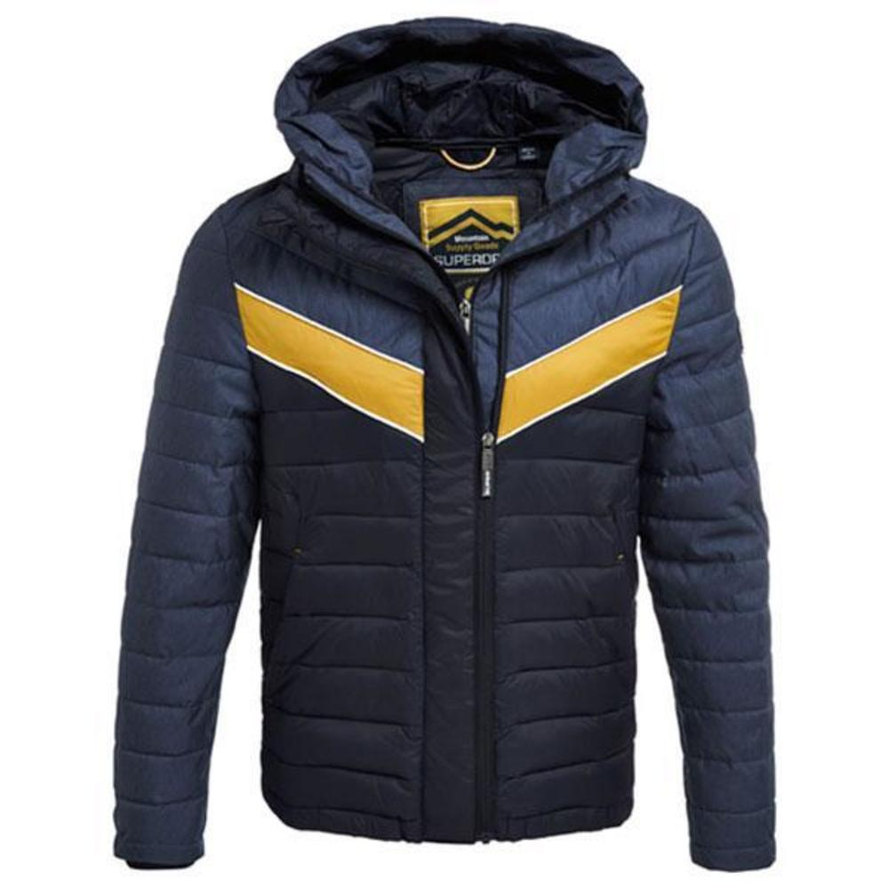 Superdry Marl Mix Chevron Fuji Blå