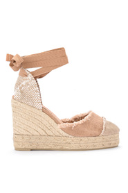 Catalina canvas and natural jute wedge sandal