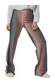 LUREX PALAZZO PANTS WITH VERTICAL STRIPES