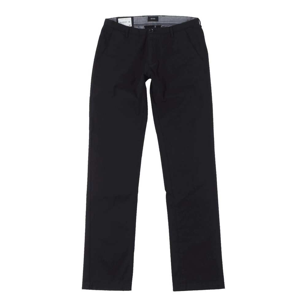 Slim Fit Trousers with a Straight Leg Rice3-D