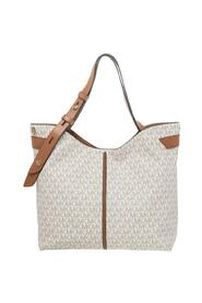 Signature Canvas And Leather Large Downtown Astor Shoulder Bag