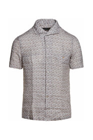 Short-sleeve Linen Shirt