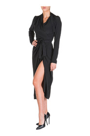 women's calf length dress long sleeve