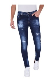 Paint Drops Heren Jeans - Slim Fit - A000