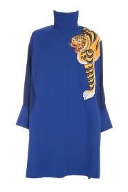 Tiger Printed Long Overshirt Tunic
