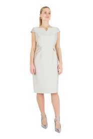 Round neck dress with V - sleeveless