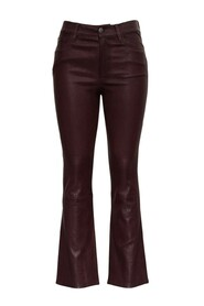 Le Crop Mini Boot Leather Trousers
