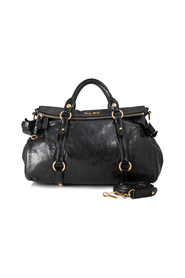 Vitello Lux Bow Satchel