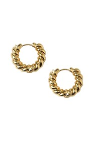CLEAN TWIST SMALL HOOP EARRINGS