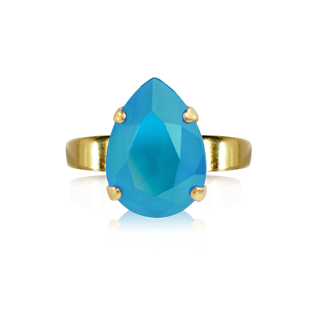 Caroline Svedbom Mini Drop Ring Azure blue