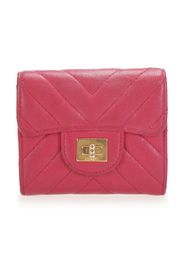 Chevron Mademoiselle Leather Small Wallet
