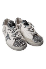 Old School Edt leather glittery sneakers