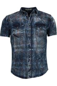 Denim Overhemd  Korte Mouwen
