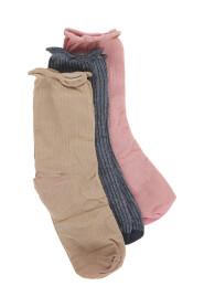 Flerfarget ICHI sokker 3pk