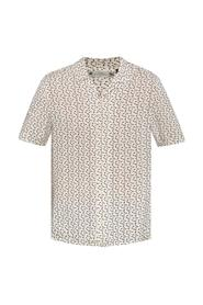 'Notes' patterned shirt with short sleeves