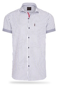 Short Sleeve Blouse Checked