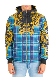 men's outerwear jacket blouson  reversibile check baroque