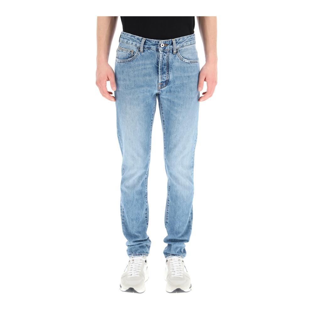 Slim jeans met vuur kruis afdruk Marcelo Burlon