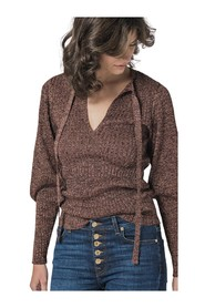 RIBBED SWEATER WITH NECKLINE DETAIL