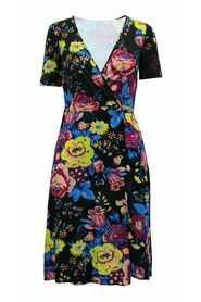 Blommigt tryck Flare Wrap Dress