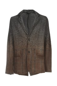 HERRINGBONE JACKET WITH CARDED AND NEEDLED CHECK