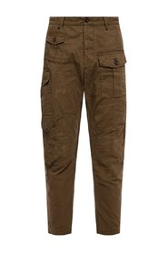 Raw-trimmed trousers