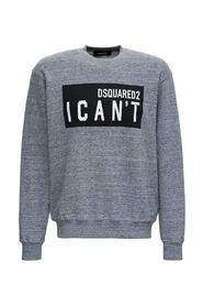 """Sweatshirt with """"I Can't"""" Print"""