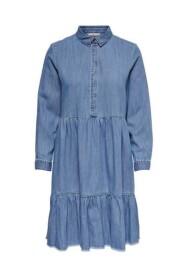 Enya Medi Raw Denim Dress