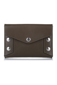Envelope Studded Leather Clutch Bag