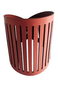 Petit H Reversible Leather Cuff in Rouge H/Salmon