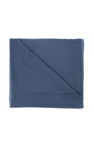 Logo-patched cashmere scarf