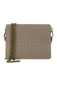 Intrecciato Leather Chain Crossbody Bag