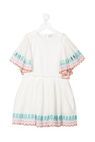 Flared Dress in Jersey with Embroidery detail