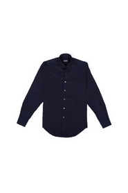 Slim fit cotton shirt with hidden placket