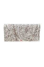 pre-owned Paisley Print Coated Canvas Continental Wallet