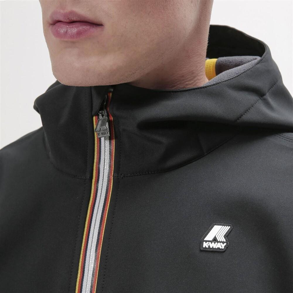 Black JACK BONDED JKT SHORT | K-Way | Pullover | Herrenbekleidung