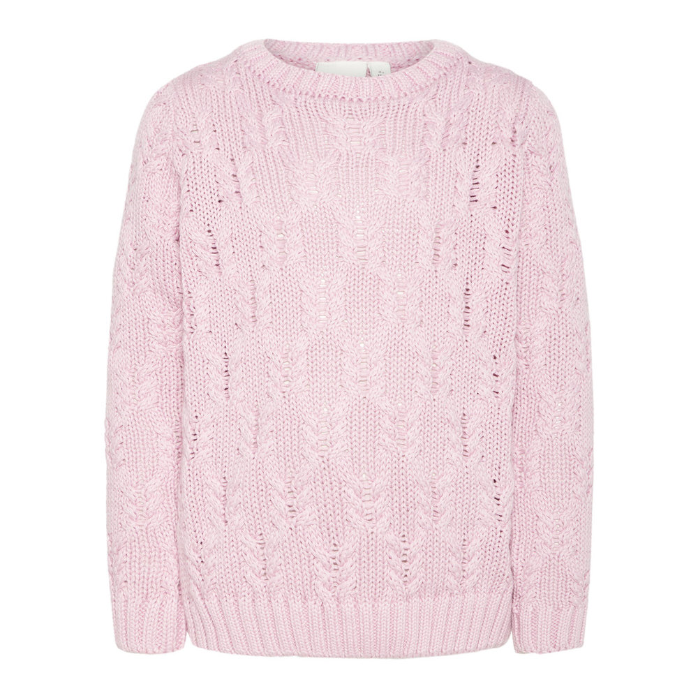 Pullover cable knitted cotton