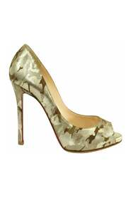 Pre-owned Camouflage Print Pumps