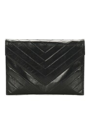 Pre-owned Chevron Clutch Bag Leather Calf