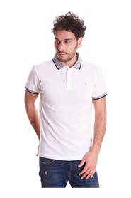 TRUSSARDI JEANS POLO WITH CONTRAST COLLAR